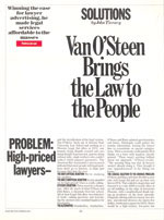 Van O'Steen Brings the Law to the People